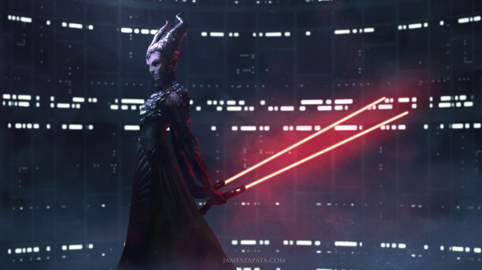 Star_Wars_Art_Illustration_01_James_Zapata_Darth_Maleficent