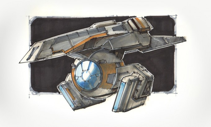 Star_Wars_Art_Illustration_01_Lorin_Wood_Spaceship_Sketches