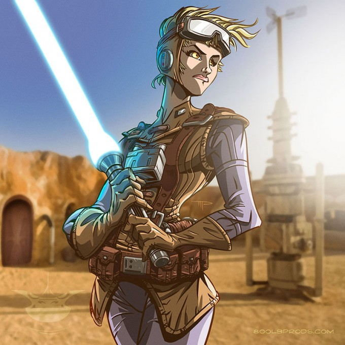 Star_Wars_Art_Illustration_01_Michael Pasquale_Daisy_Ridley