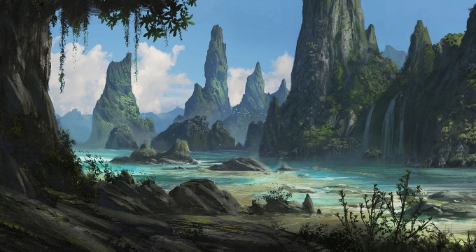 Jonas de ro concept art world - Digital art wallpaper 3840x1080 ...