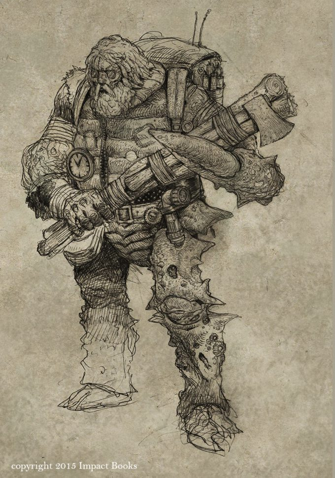 Sean Andrew Murray art illustration Wasteland Inhabitants sketch 04