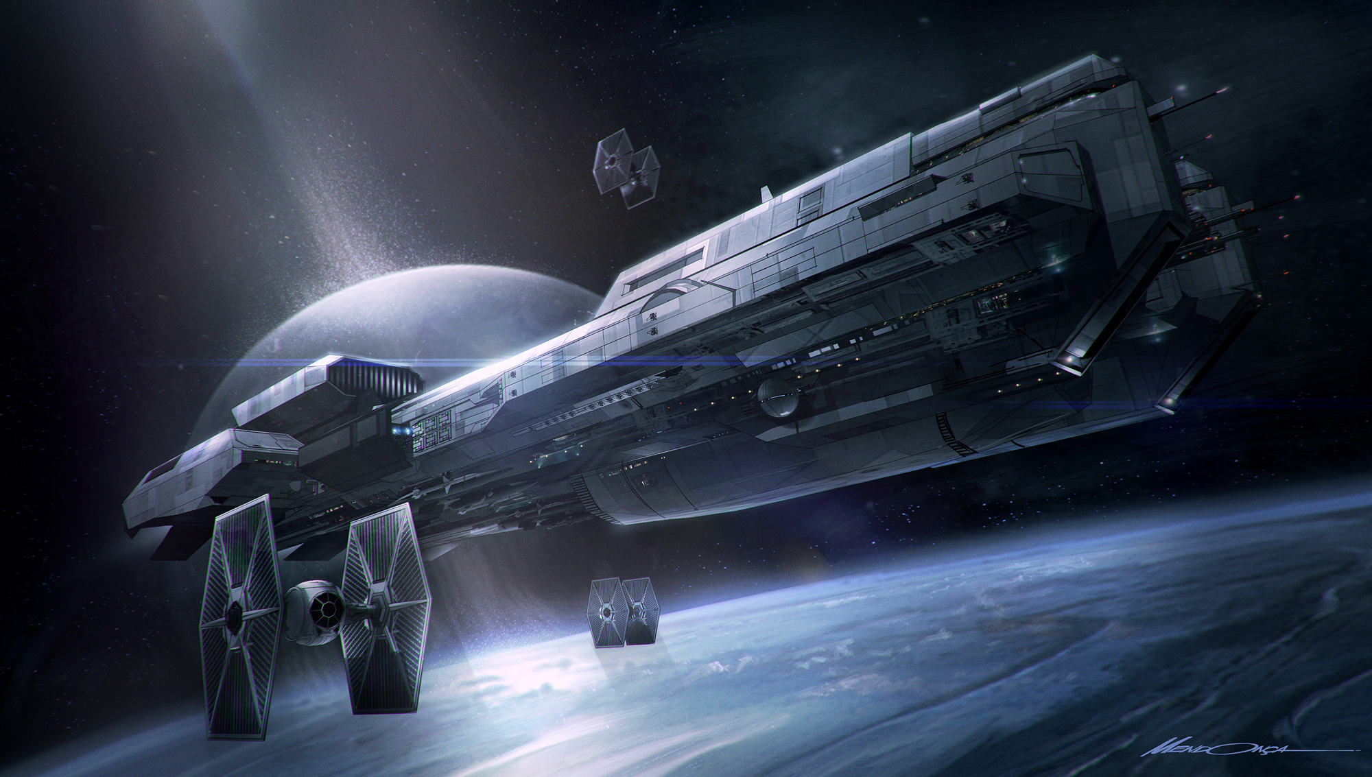 Star Wars Concept Art and Illustrations by Gustavo Mendonca