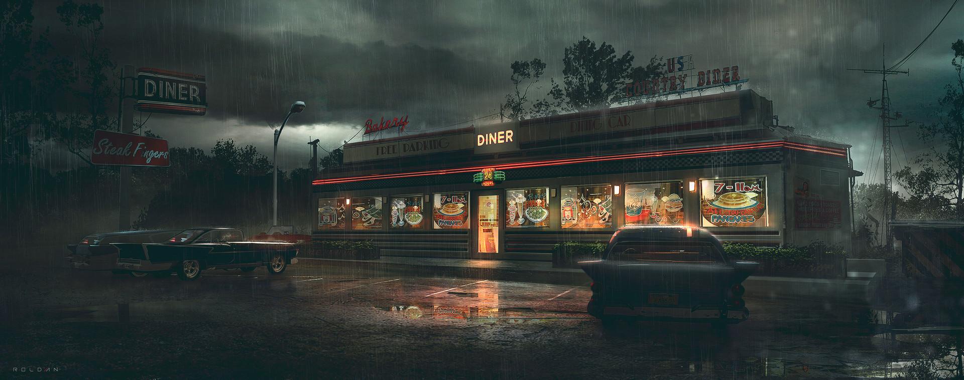 Juan pablo rold n concept art world for Diner artwork