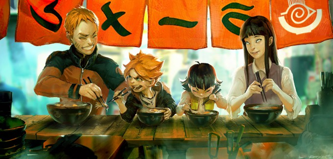 Ben_Lo_Illustration_Naruto_family_ramen