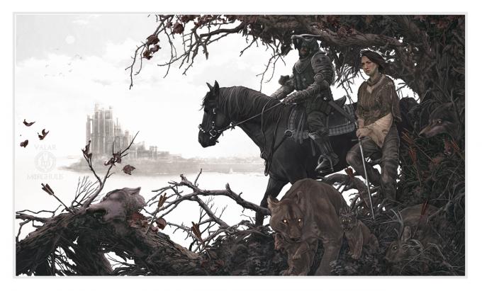 Game_of_Thrones_Illustration_AJ_Frena-The_Hound_Arya_Stark