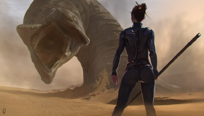 Mark_Kent_Concept_Art_01_Dune_Sandworm