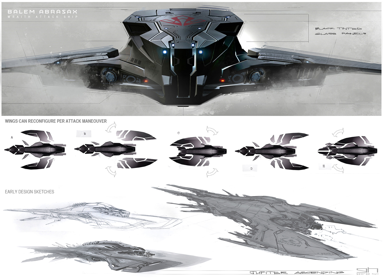 Jupiter ascending concept art by george hull concept art for Spaceship design