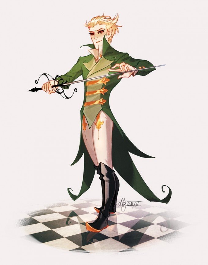 Dana_Guerrieri_Art_Illustration_serperior_gijinka