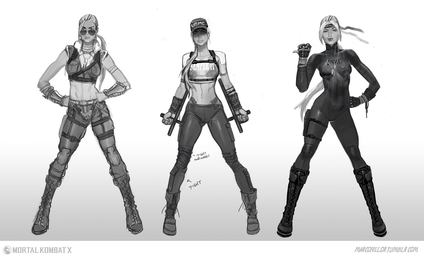 Character Design Mortal Kombat : Exclusive mortal kombat concept art by marco nelor