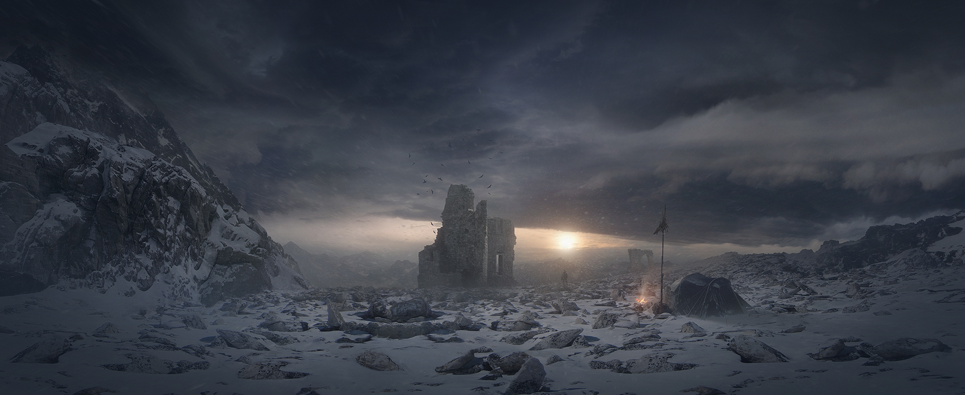 Jessica rossier concept art world for Matte painting