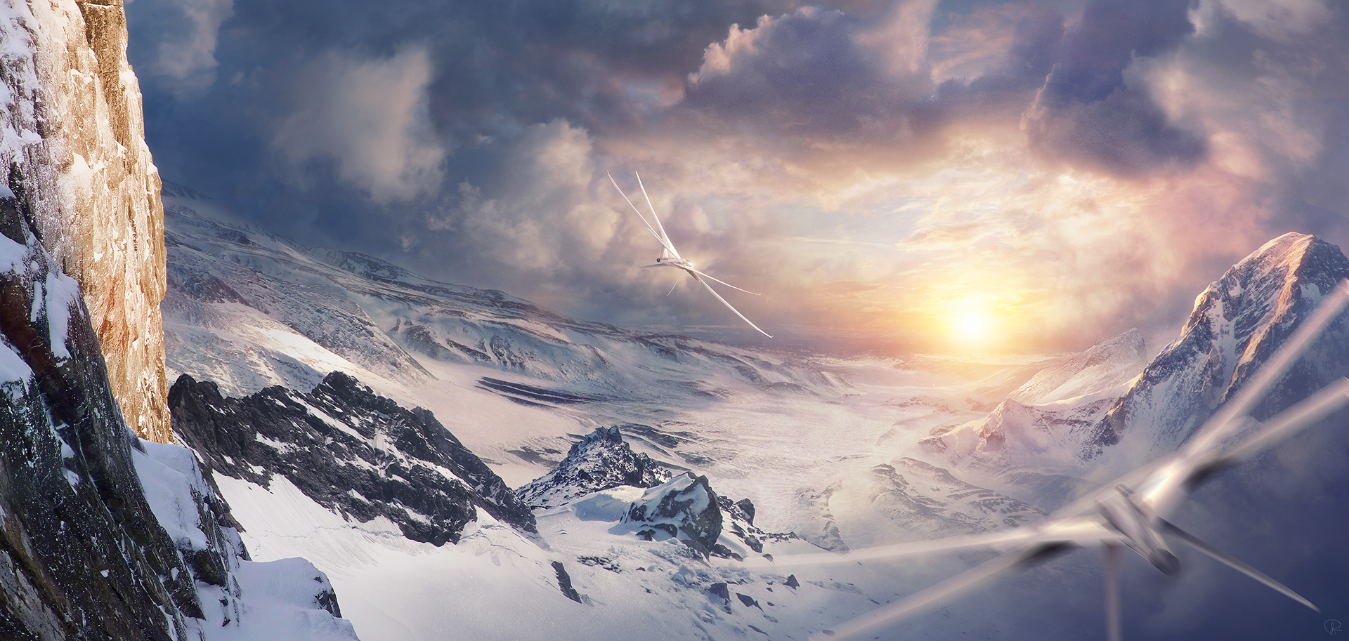 Jessica rossier concept art world for Space matte painting