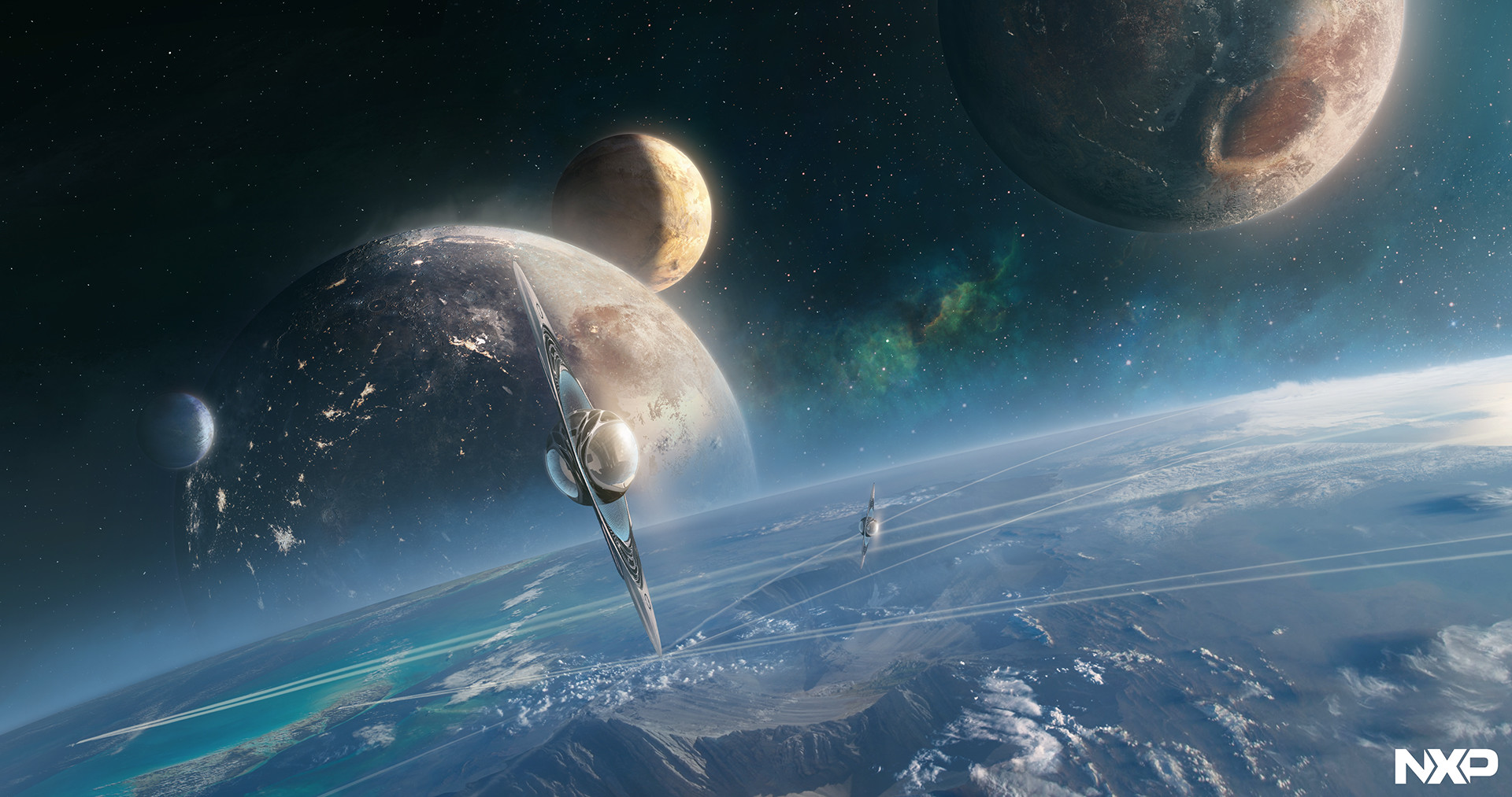Jessica rossier concept art world for Space concept