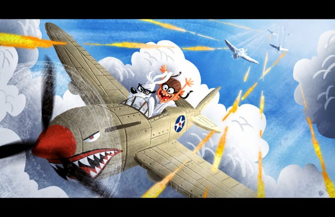 Nate_Wragg_Art_Illustration_WW2DogFight