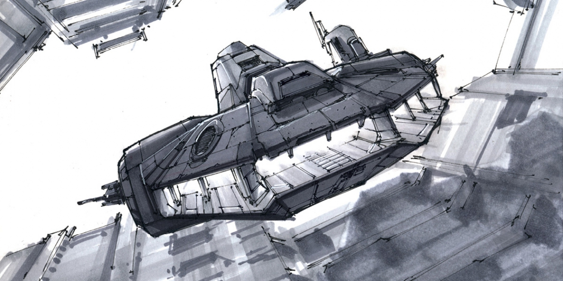 Woosh Spaceship Sketches from the Couch M01