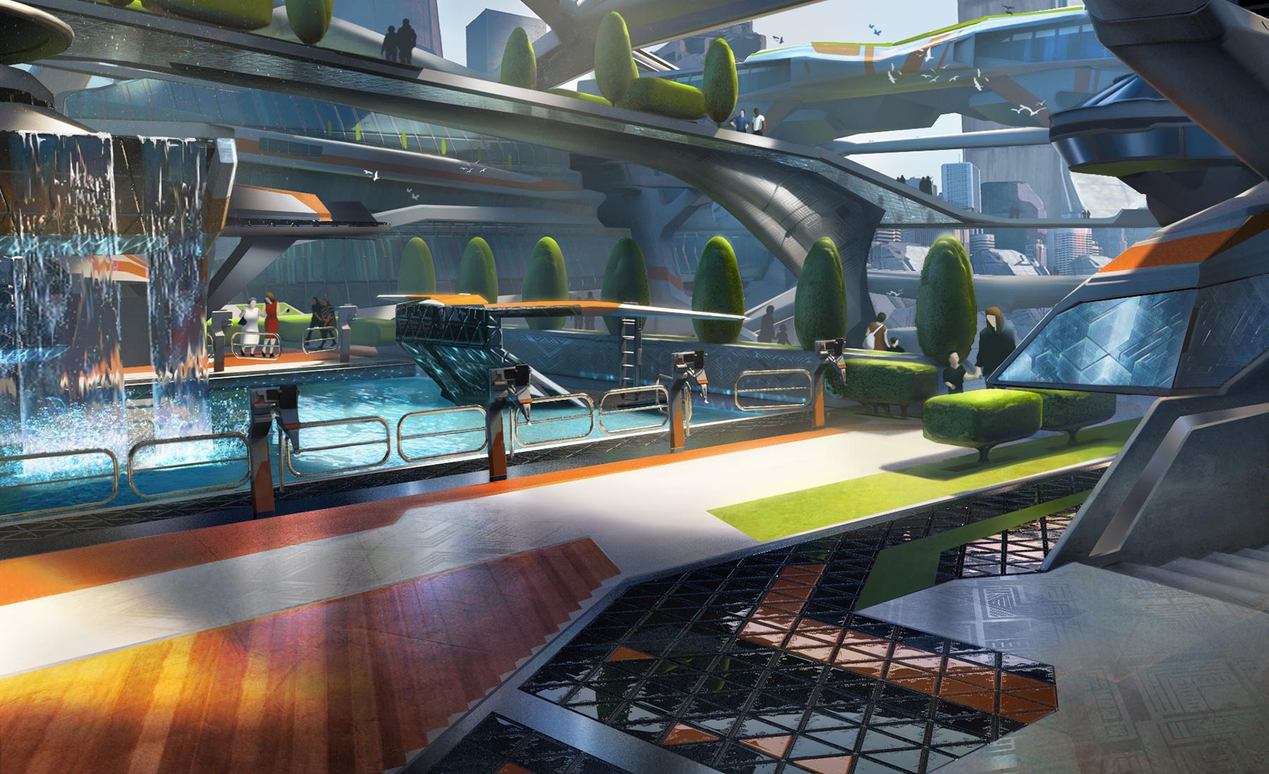 Elijah mcneal concept art world for Pool design dessau