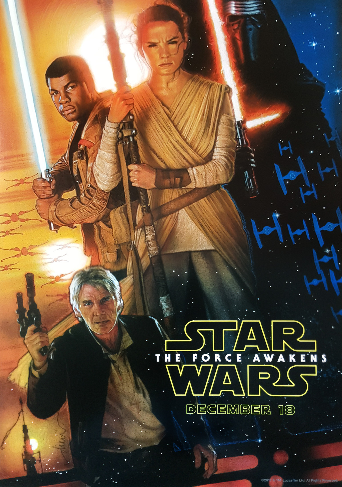 official star wars episode vii: the force awakens poster by drew