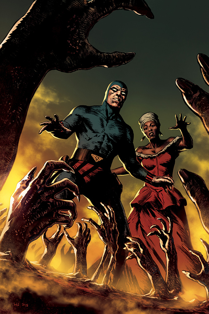Comic Book Cover Art ~ The phantom comic book cover art by henrik sahlström