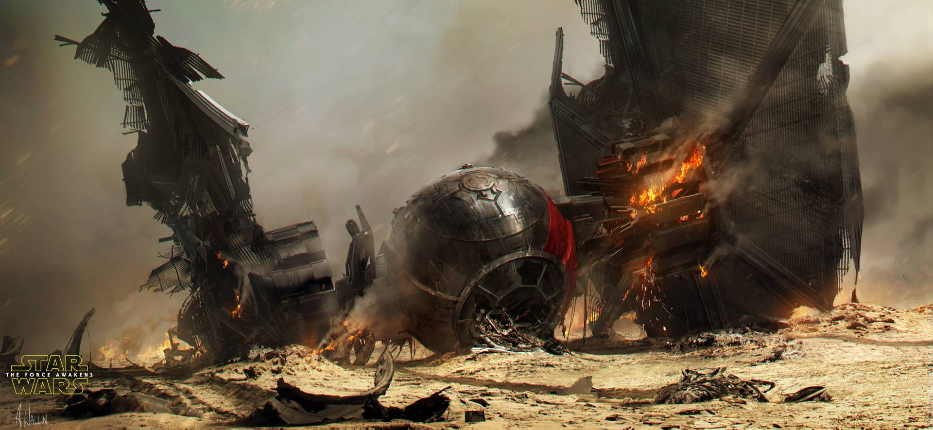 Star Wars The Force Awakens Concept Art By Andr 233 E Wallin