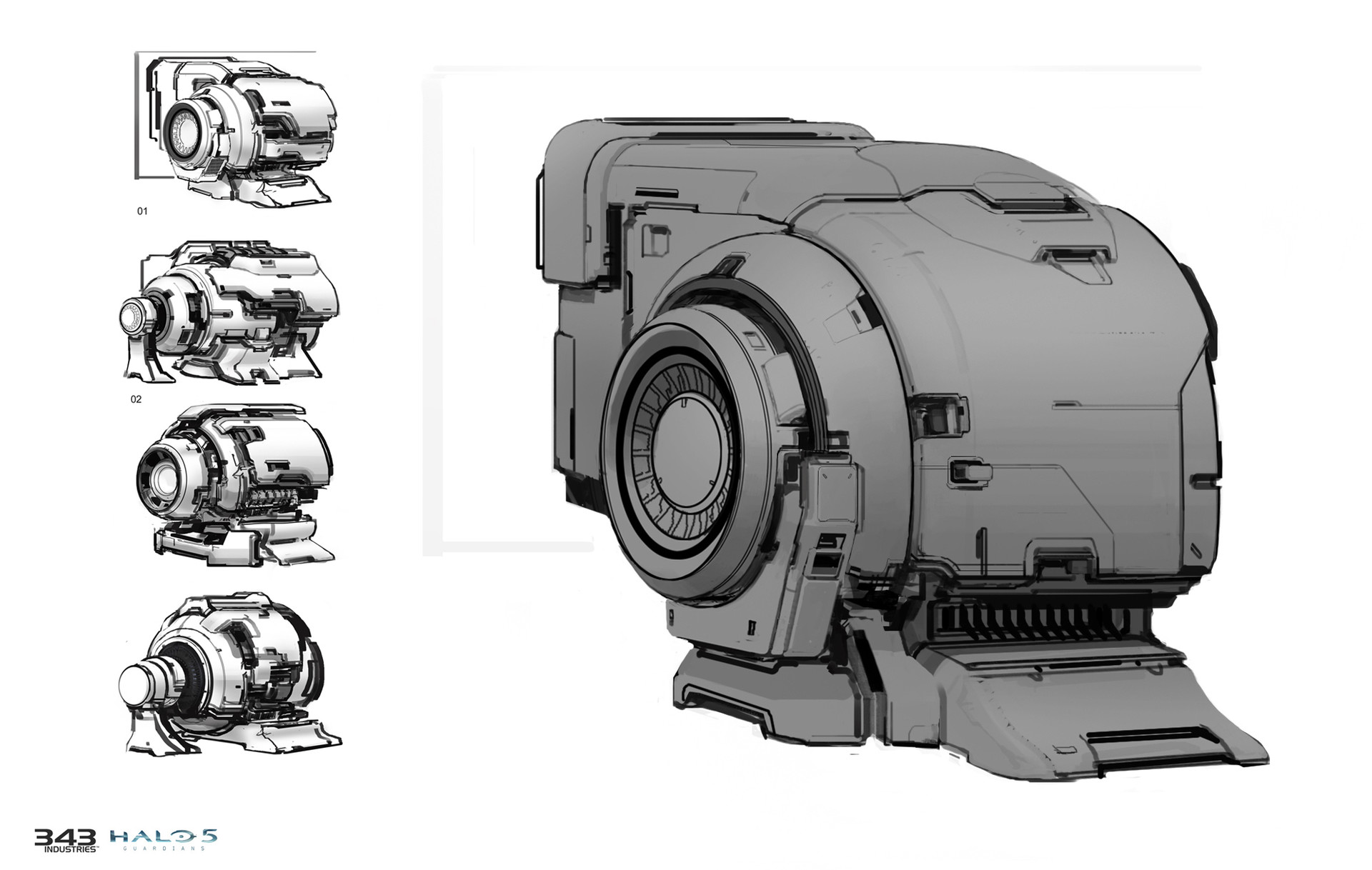 ArtStation - Portable battery, OBERFETT | Kirill Chepizhko ... |Conceptual Generator Drawing