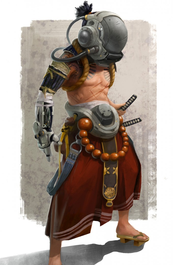 Samurai_Concept_Art_Illustration_01_Bruno_Gauthier_Leblanc_Humaniod