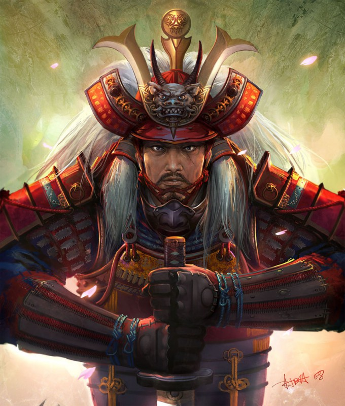Samurai_Concept_Art_Illustration_01_Dehong_He