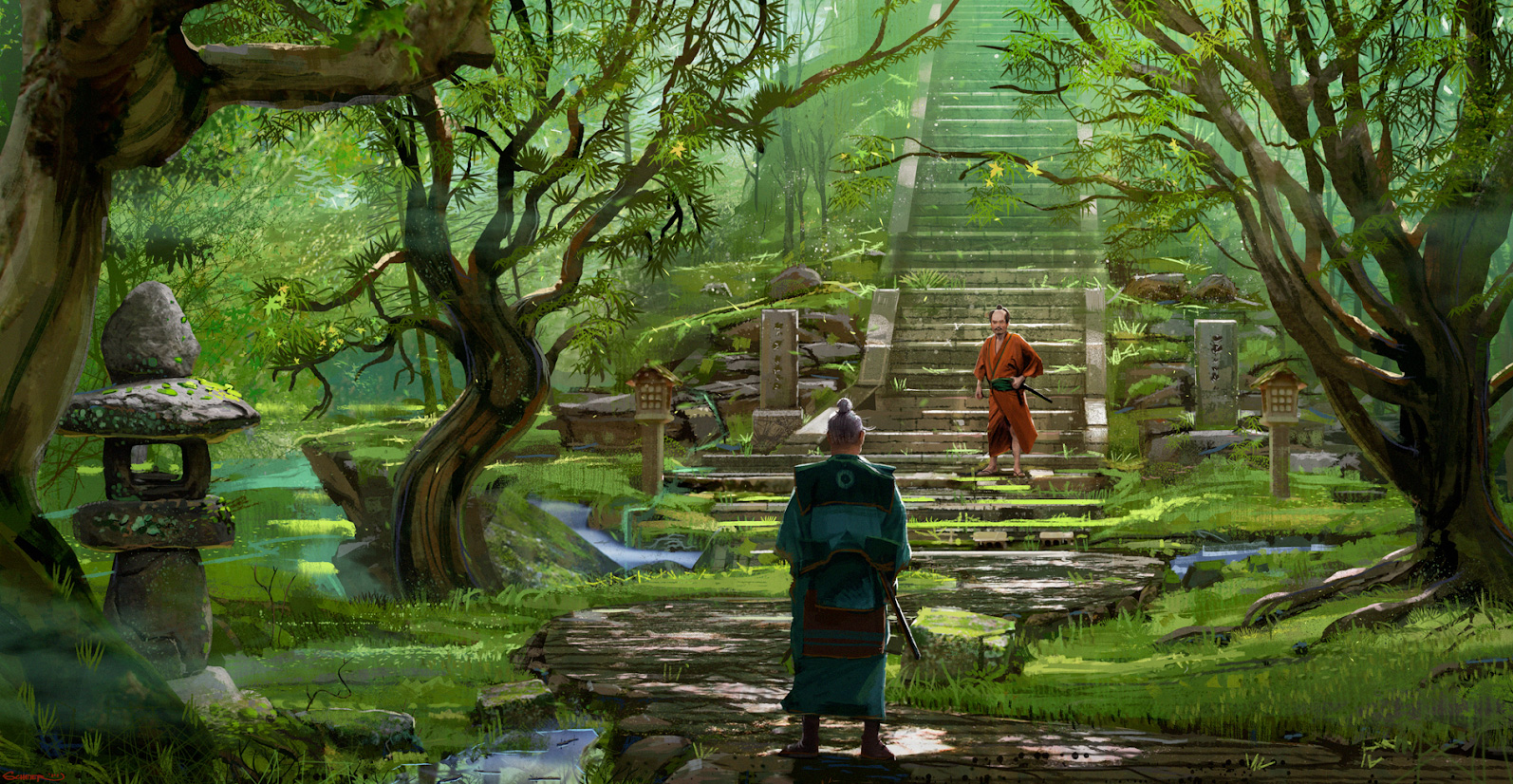 Samurai Concept Art Illustration 01 Jason Scheier Concept