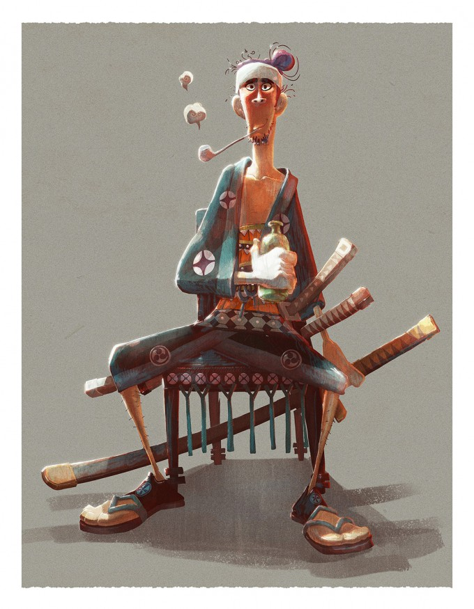 Samurai_Concept_Art_Illustration_01_Melody_Cisinski