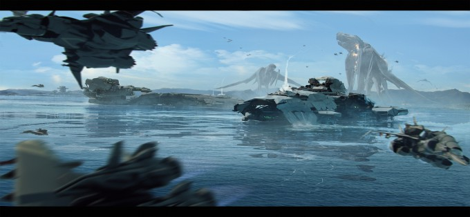 Pacific_Rim_Fan_Art_Concept_Illustration_01_Brad_Wright-battleship-monster-attack
