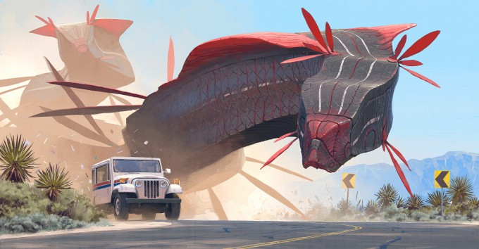 Simon_Stalenhag_Concept_Illustration_44-Car_and_Worms
