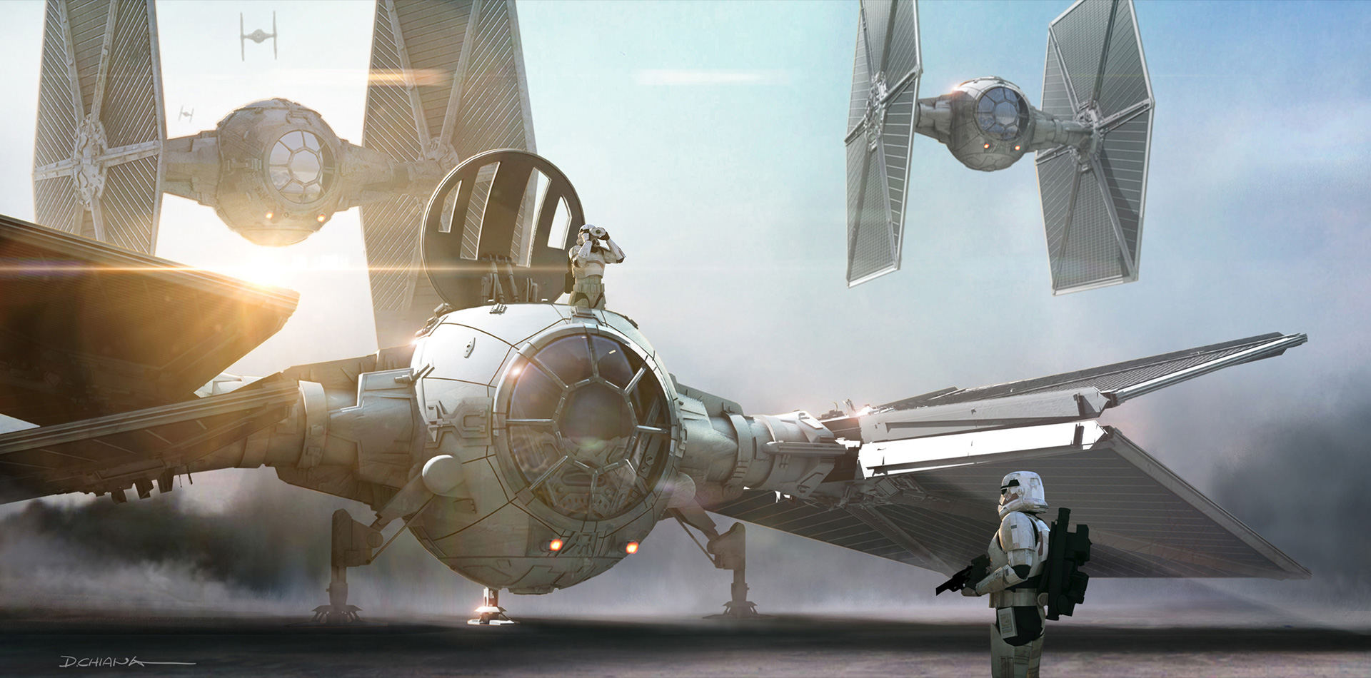 Star Wars: The Force Awakens Concept Art by Industrial ...