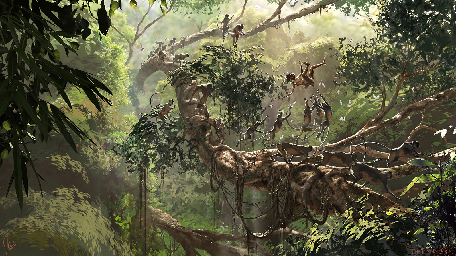 the jungle book concept art by jonathan bach concept art world. Black Bedroom Furniture Sets. Home Design Ideas