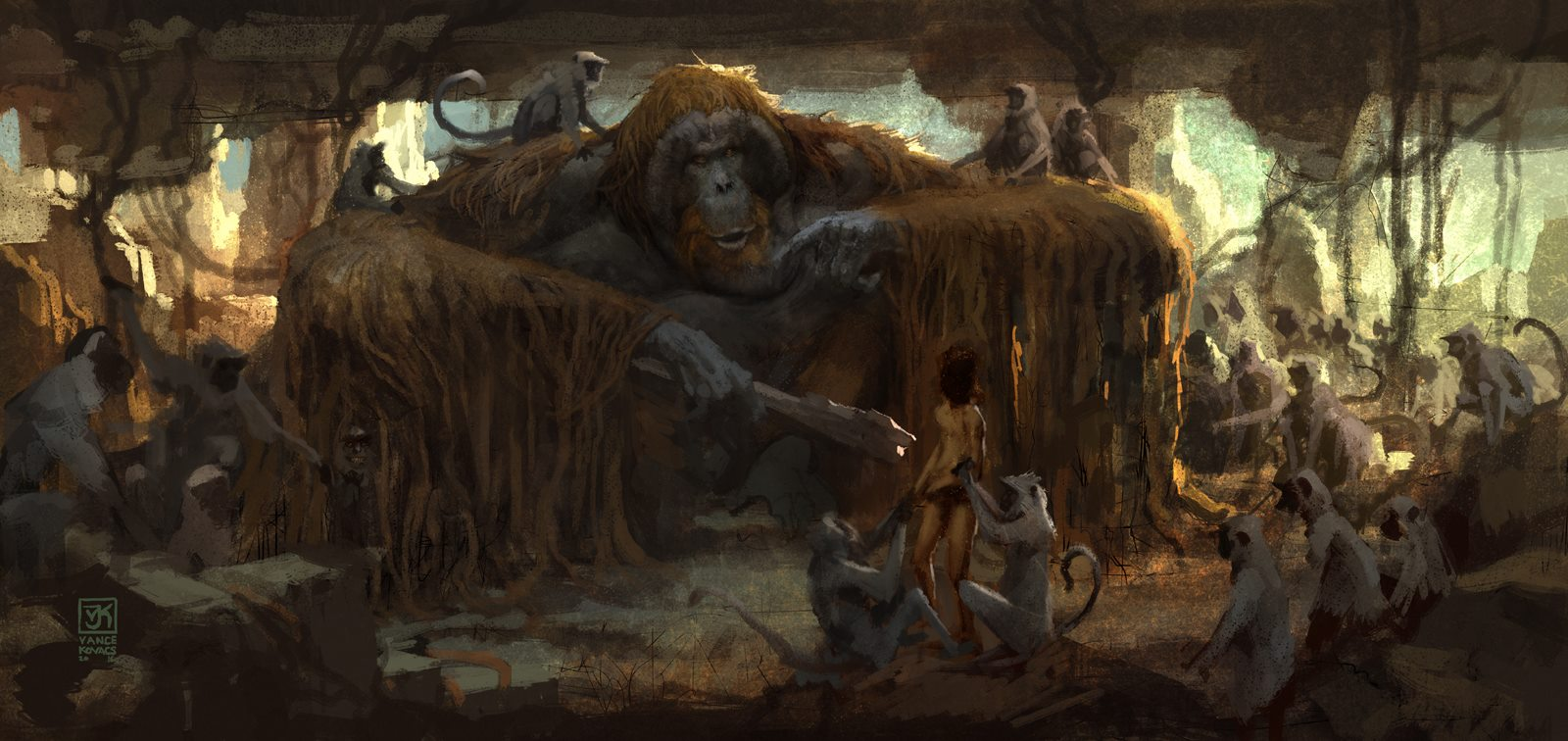 The Jungle Book Concept Art By Vance Kovacs Concept Art