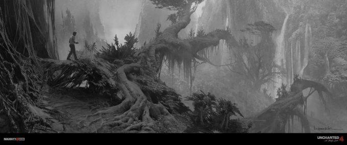 Uncharted 4 concept art jungle bridge post
