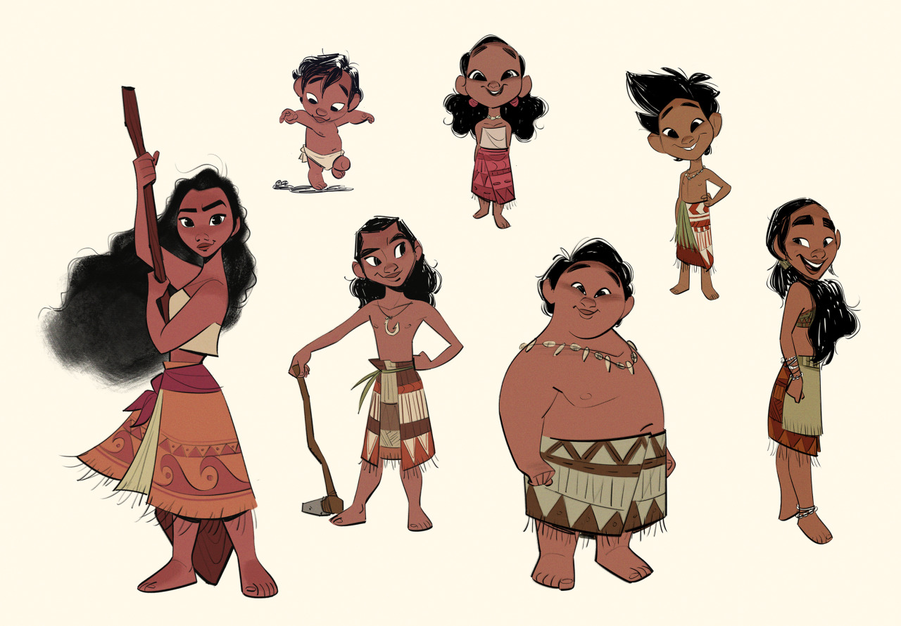Character Design For Disney : Disney s moana concept art by bobby pontillas