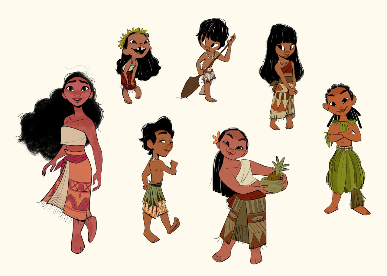 Concept Of Character Design : Disney s moana concept art by bobby pontillas