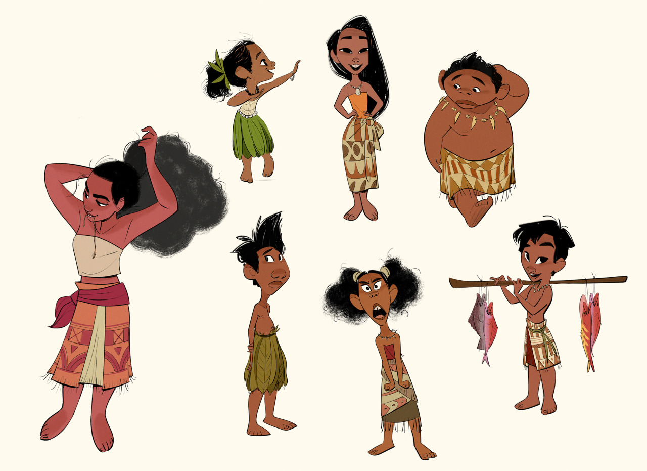 Character Design And Concept Art : Disney s moana concept art by bobby pontillas