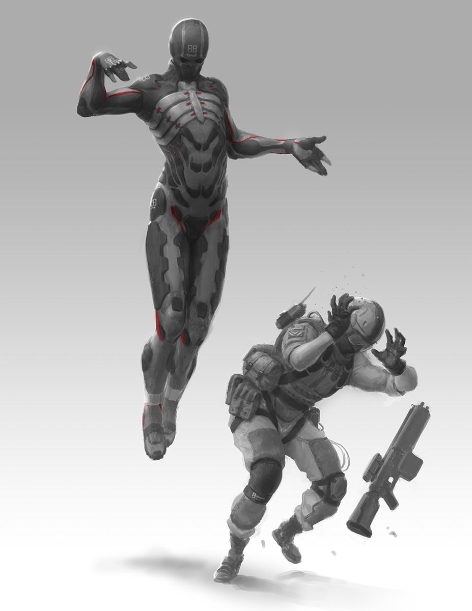 metal gear online concept art by jordan lamarre wan
