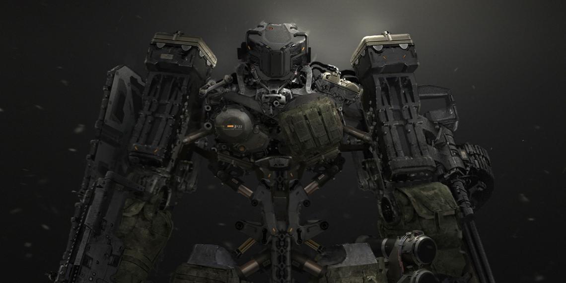 Metal Gear Online Concept Art Mech JLW M01