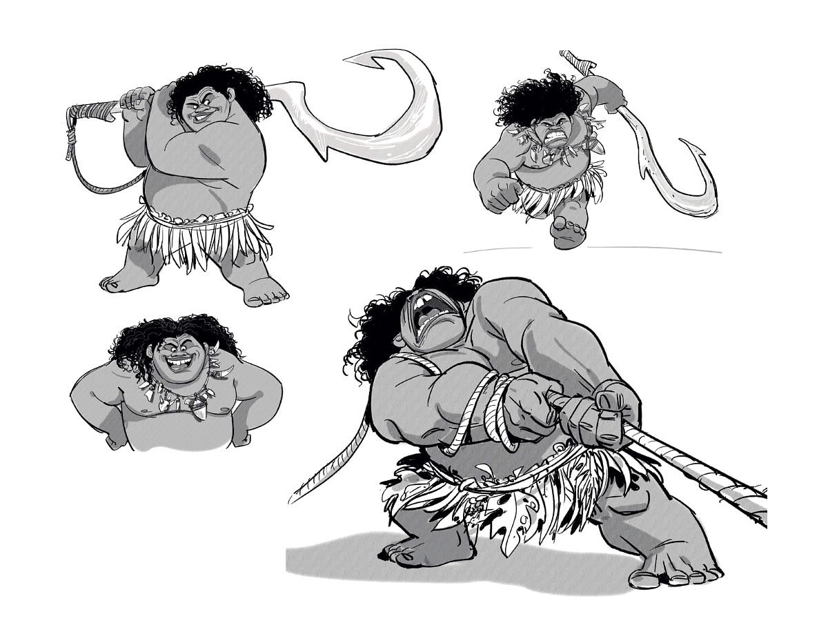 Moana Disney Character Design : The art of moana concept world