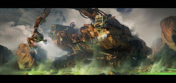 ivan laliashvili concept art space engineers green plasma field exploration