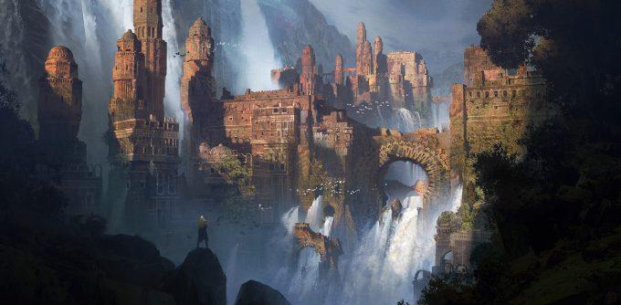 ivan laliashvili concept art waterfalls