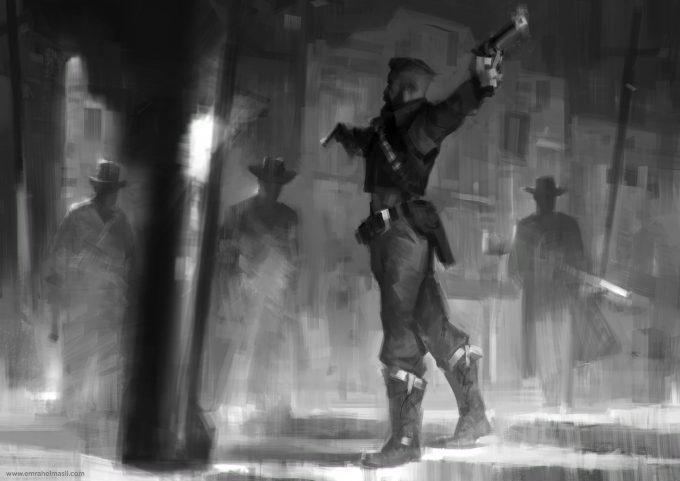 cowboy-western-concept-art-illustration-01-emrah-elmasli