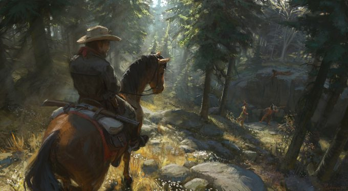 cowboy-western-concept-art-illustration-01-karl-simon-gustafsson-cowboys_and_indians