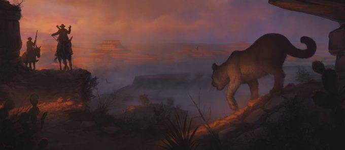 cowboy-western-concept-art-illustration-01-piero-macgowan-grand-canyon