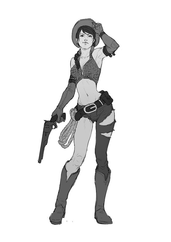 cowboy-western-concept-art-illustration-01-tim-lochner-cowgirl