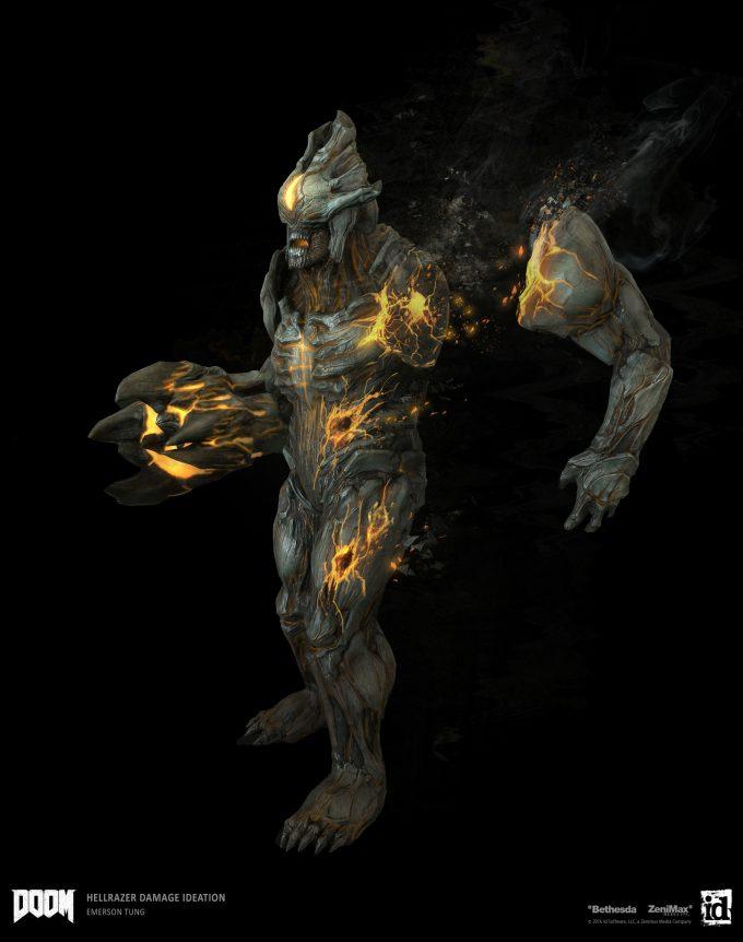 DOOM-2016-Game-Concept-Art-Emerson-Tung-ch-beam-demon-damage