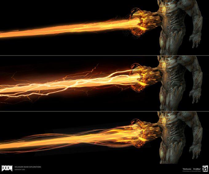 DOOM-2016-Game-Concept-Art-Emerson-Tung-ch-beam-demon-effect