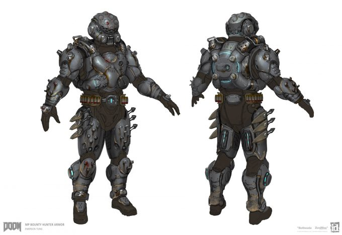 DOOM-2016-Game-Concept-Art-Emerson-Tung-mp-armor-bounty-hunter-finalize-book-1-1