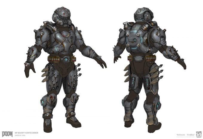 DOOM-2016-Game-Concept-Art-Emerson-Tung-mp-armor-bounty-hunter-finalize-book-1-1