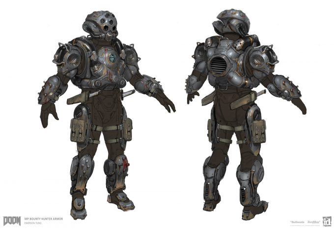 DOOM-2016-Game-Concept-Art-Emerson-Tung-mp-armor-bounty-hunter-finalize-book-1-2
